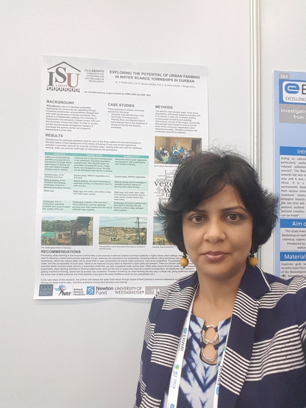 Dr. Parikh with Phase 3 poster at the conference.