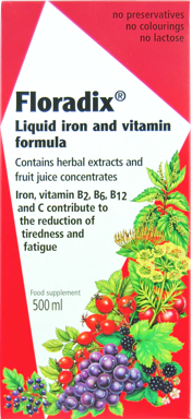Floradix Liquid Iron and Vitamin Formula