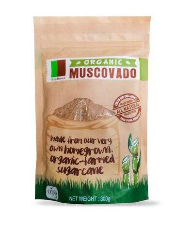 Organic Muscovado raw brown sugar 300g