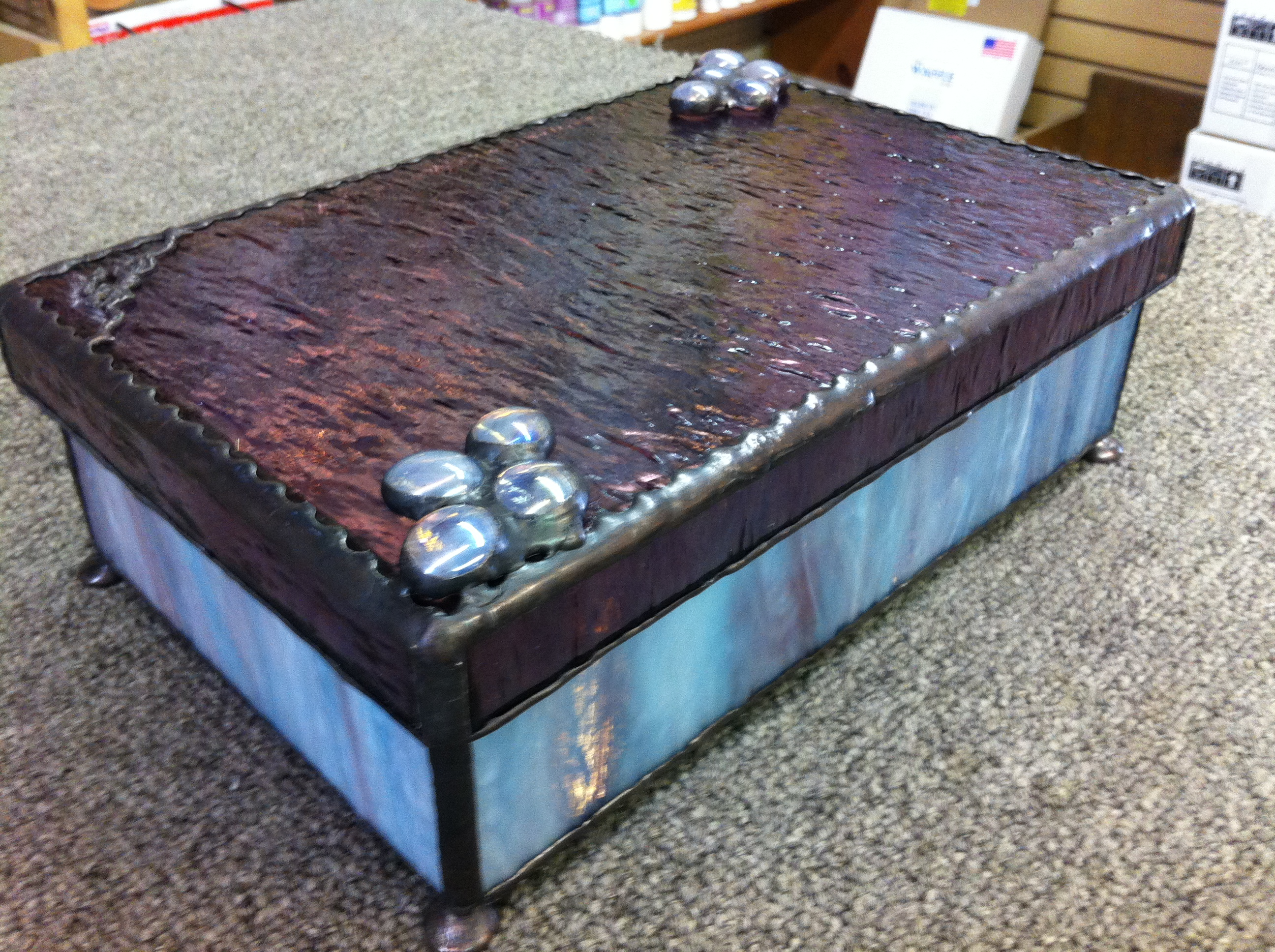 Blue and Mauve Jewlery Box