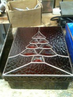 Beveled Christmas Tree Red Box