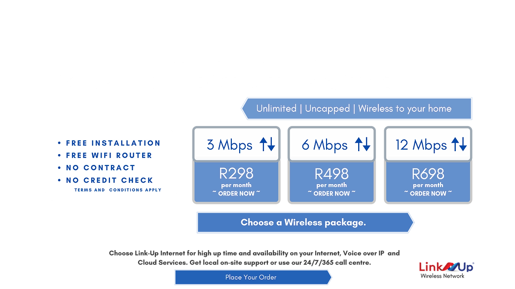 Fibre Fast Wireless Internet in Stanger from R298pm