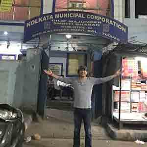 Sanskrit Mahanayak Megastar Aazaad at Kalighat, Kolkata | मेगास्टार आज़ाद कालीघाट कोलकाता में |