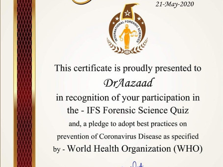 Megastar Dr. Aazaad got honored for his contribution on prevention of Coronavirus Disease.
