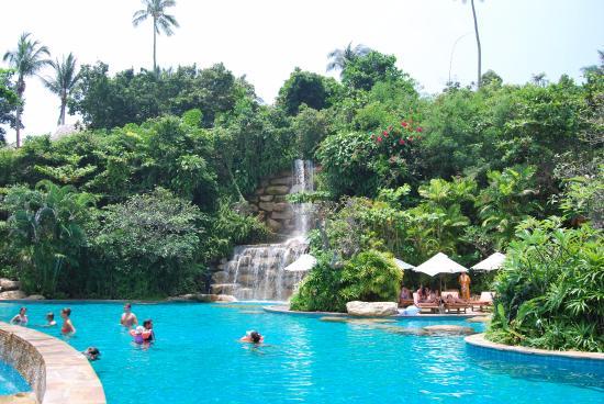 santhiya Main swimming pool with waterfall