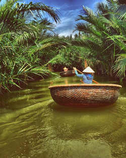 Hoi An Bamboo basket boat