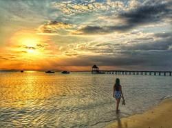 Sunset walk along Santhiya