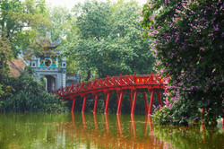 Hanoi Kiem Lake Red Bridge