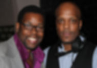Chris D with friend / colleague  Award winning saxoponist J Hines