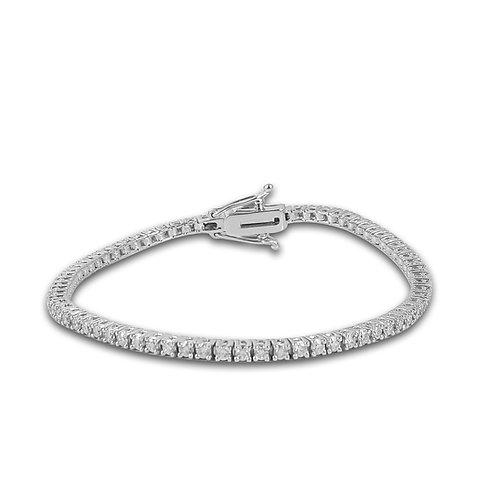 צמיד טניס 2.25 קראט יהלומים בזהב לבן