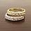 Thumbnail: טבעות יהלומים במבצע, טבעת חצי נישואין משובצת יהלומים