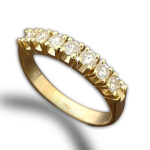טבעות יהלומים במבצע, טבעת חצי נישואין משובצת יהלומים