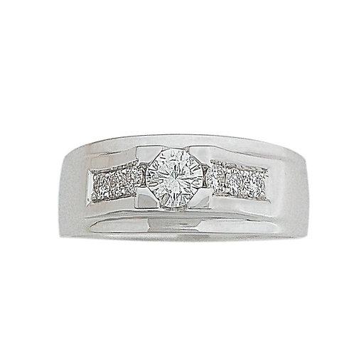 טבעת זהב לגבר משובצת יהלומים