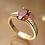 Thumbnail: טבעת טורמלין ורוד ויהלומים