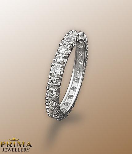 טבעת נישואין משובצת יהלומים מסביב
