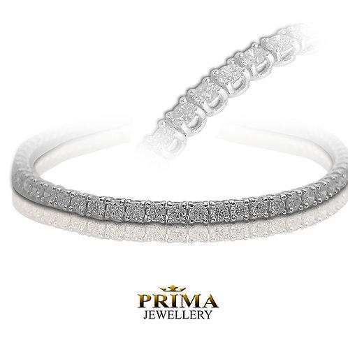 צמיד טניס 4.50 קראט יהלומים בזהב לבן 18K