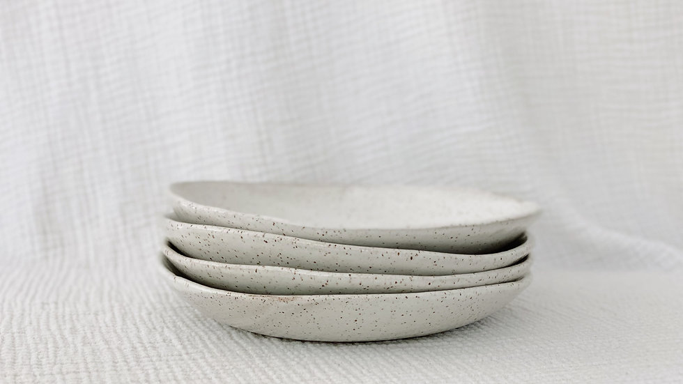 White Speckled Pasta Plate