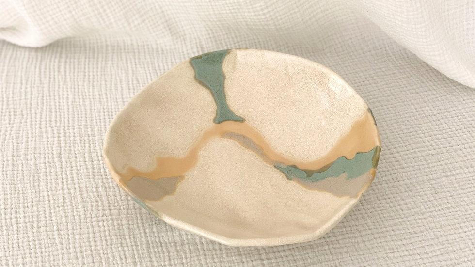 Large Free-Form Desert Scape Bowl