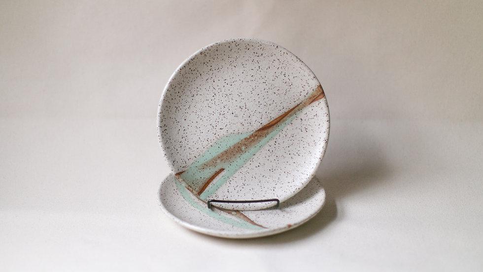 Speckled Landers Salad Plate
