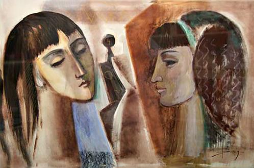 Le deux Ragazze by Antonio Diego Voci
