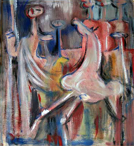 Composizione with Horse by Antonio Diego Voci