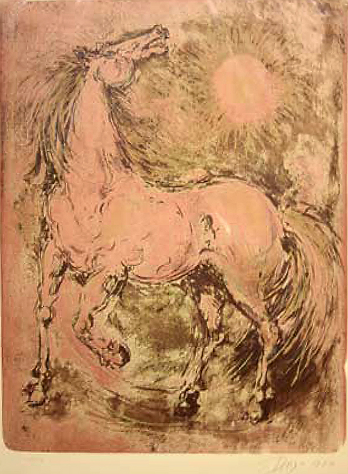 Horse in Pink by Antonio Diego Voci