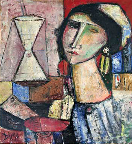 Painter and Model by Antonio Diego Voci