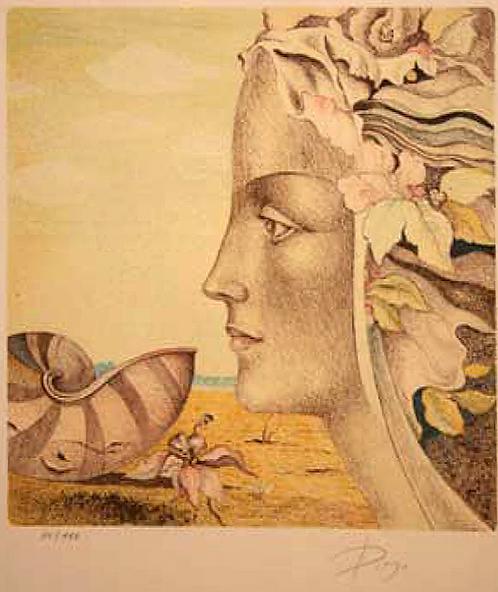 Die Muschel (4 colored) by Antonio Diego Voci