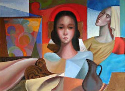Title: Composition avec Jeunes Filles