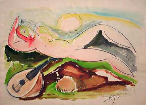 Lying Nude by Antonio Diego Voci