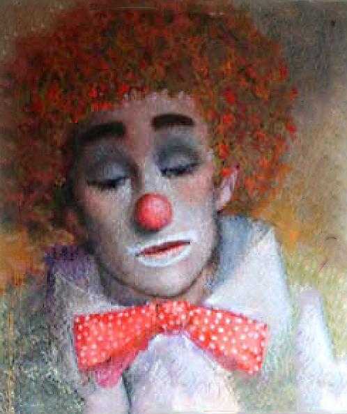 Jeune Clown avec Cheveux Dorés Deux by Antonio Diego Voci