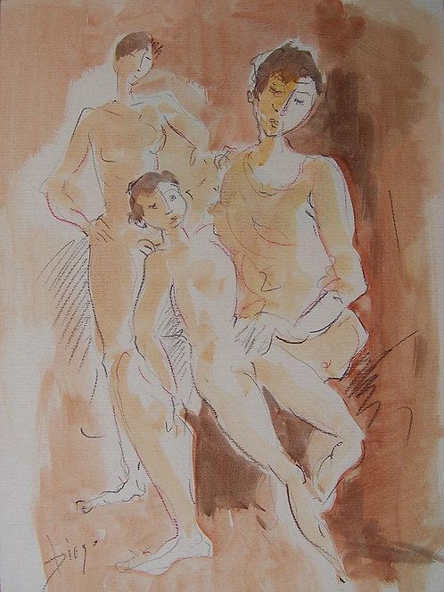Badende Familie by Antonio Diego Voci