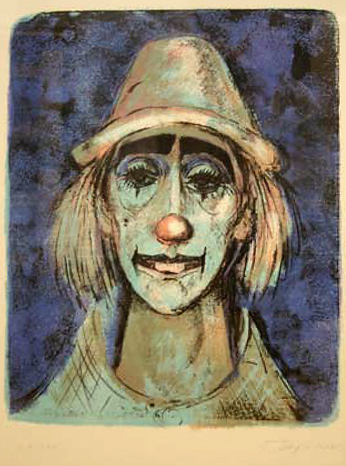 Clown en bleu (single piece) by Antonio Diego Voci