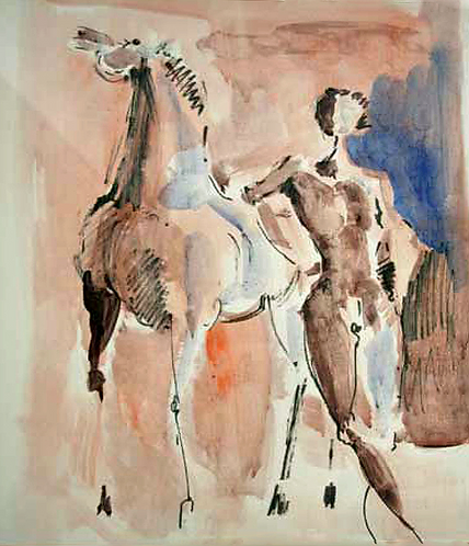 Man with Horse by Antonio Diego Voci