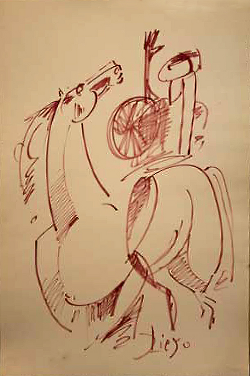 Composition with Horse by Antonio Diego Voci