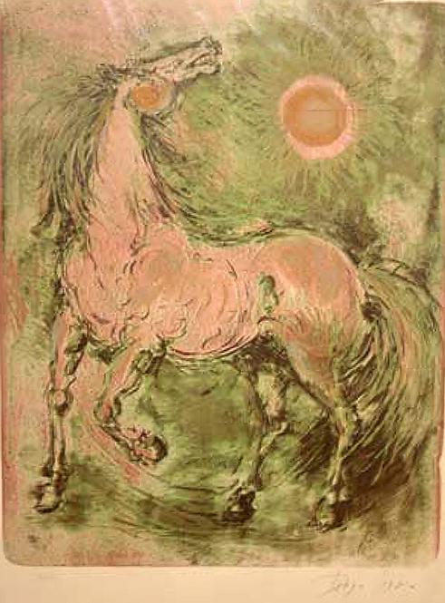 Horse in Green by Antonio Diego Voci