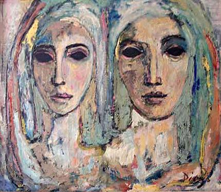 Deux Filles au Bleu by Antonio Diego Voci