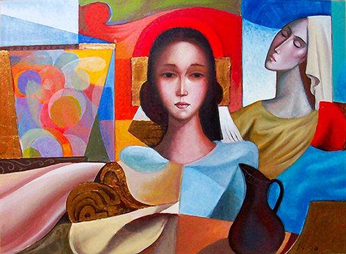 Composition avec Jeunes Filles by Antonio Diego Voci