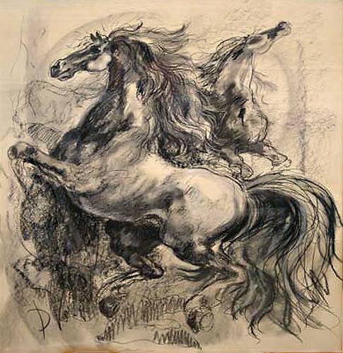 Horses by Antonio Diego Voci