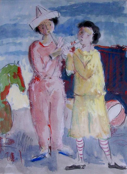 Musizierende Kinder by Antonio Diego Voci