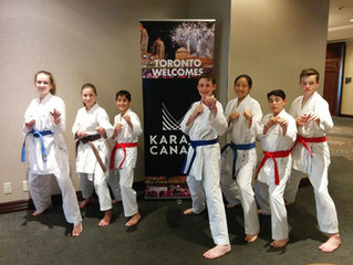 Les athlètes du KNB participent au Karate Canada Junior National Team Training