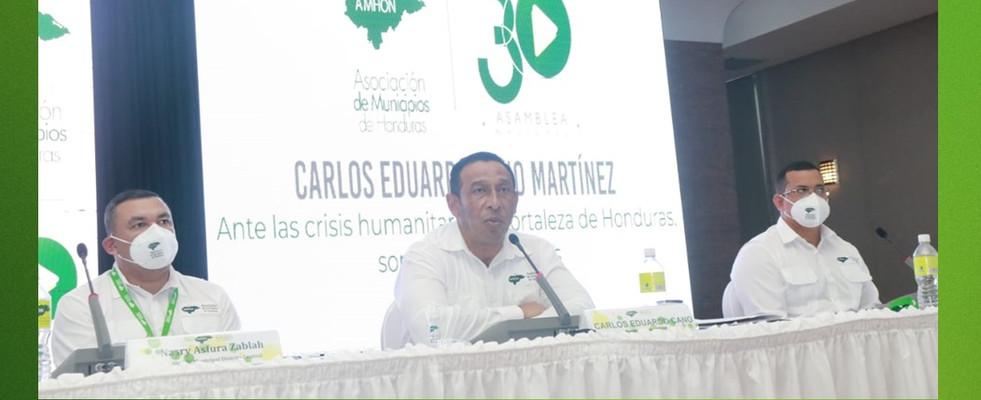 DISCURSO PRESIDENTE DE LA AMHON: LOS ALCALDES Y ALCALDESAS TRABAJAMOS POR EL DESARROLLO Y OPORTUNIDADES
