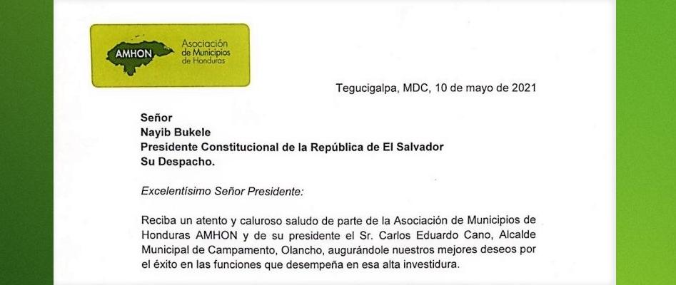 AMHON SOLICITA AL MANDATARIO DE EL SALVADOR CONTACTO PARA COMPRA DE VACUNA CHINA