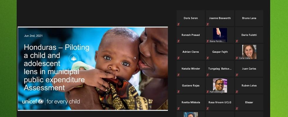 AMHON/UNICEF HONDURAS COMPARTEN CON EL MUNDO BUENAS PRÁCTICAS SOBRE INVERSIÓN MUNICIPAL EN NIÑEZ