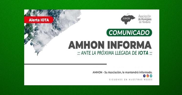 COMUNICADO HURACÁN IOTA
