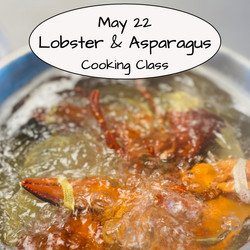 Lobster & Asparagus Cooking Class
