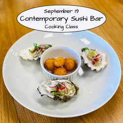 Contemporary Sushi Bar Cooking Class