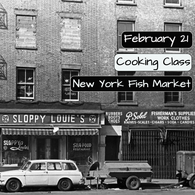 New York Fish Market Cooking Class