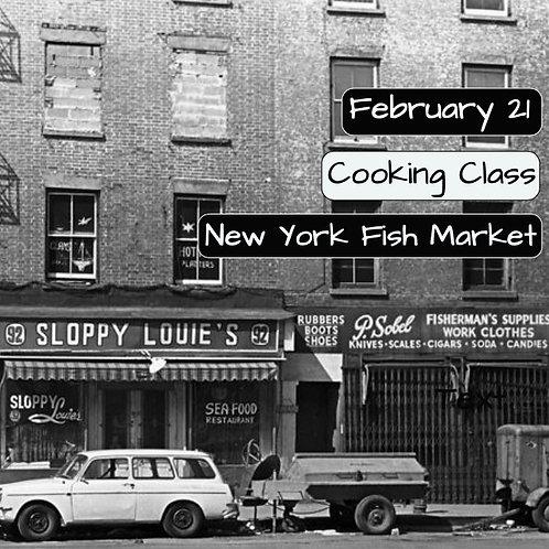 Duminica 21.02. - Ora 14:00 - New York Fish Market - 1 Participant
