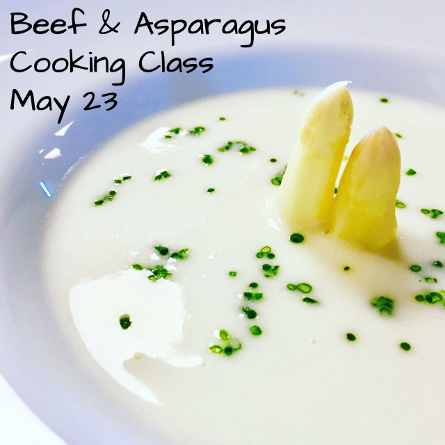 Beef & Asparagus Cooking Class